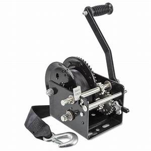 West Marine 2600 Lb  Two Speed Manual Trailer Winch With