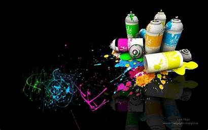 Spray Paint Wallpapers Painting Cans Cool Background