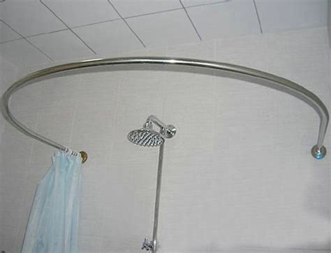country home bathroom ideas stainless steel u shaped curved shower curtain rod