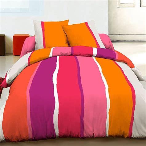 grossiste parure housse de couette 100 coton 240x260 cm lilly orange b2b