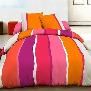Housse De Couette 220x240 Pas Cher : achat parure housse de couette 220x240 coton lilly orange ~ Melissatoandfro.com Idées de Décoration