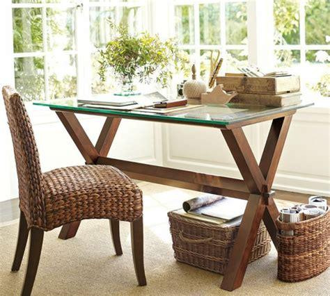 bureau bois et verre le plateau de bureau en verre pour votre office à la
