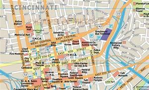 Royalty Free Cincinnati Illustrator Vector Format City Map