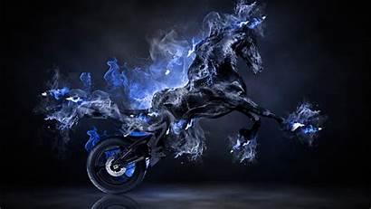 Horse Fantasy Fire Wallpapers Pink Bike Moto