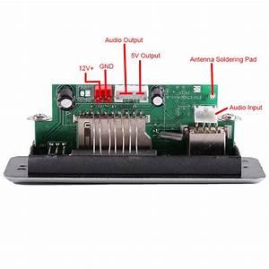 Dc 12v Car Mp3 Decoder Board Audio Module Usb Sd Tf Fm