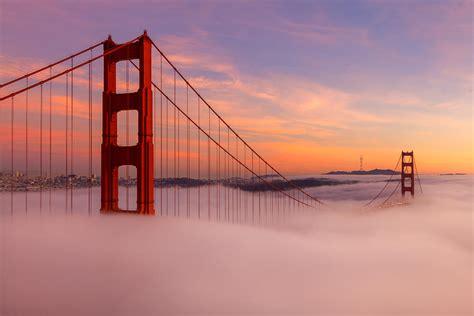 golden gate bridge  clouds photograph  adonis villanueva