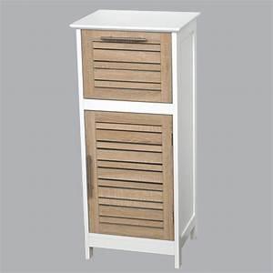 meuble a salle de bain rangement With meuble bois rangement salle de bain