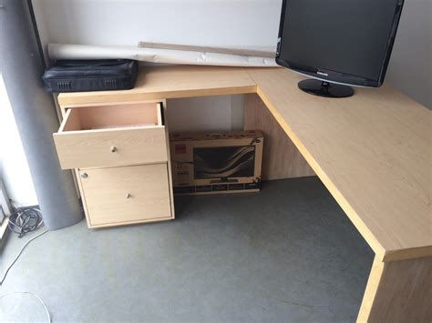 Modern L Shaped Desk With Filing Cabinet Manitoba Design