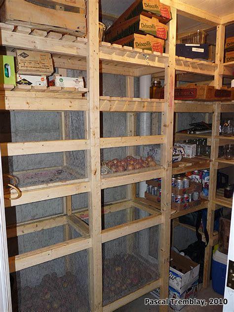 walk  cold room  canning room wooden vegetable bins