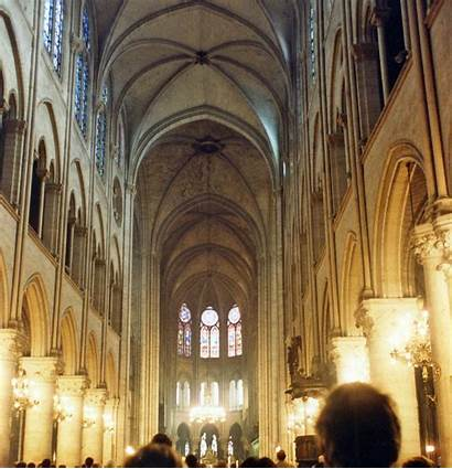 Dame Notre Cathedral Interior Paris Inside Ceiling