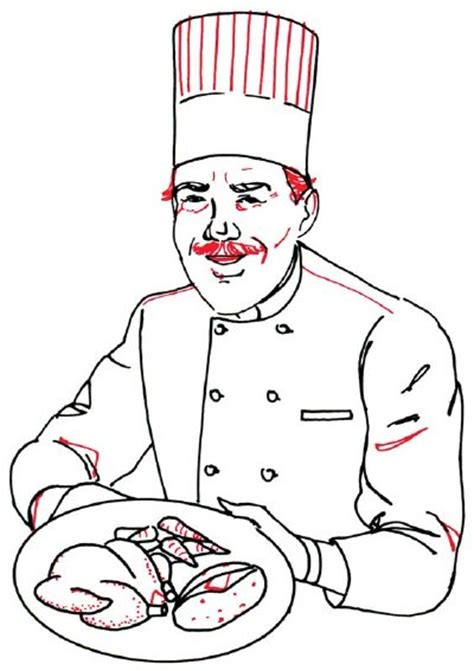 add  mustache   draw  chef   steps