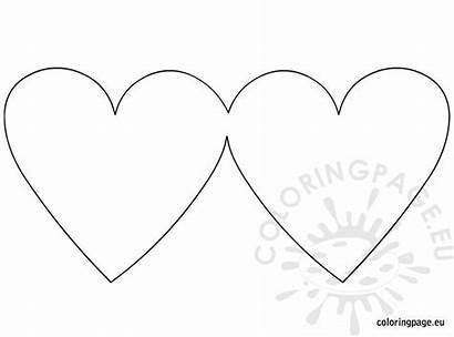 Heart Card Blank Shaped Greeting Shape Coloring