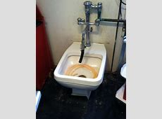 Commercial Toilet in Replacement of a wall hung sink