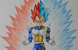 Drawing Vegeta SSJ God - SSGSS - YouTube
