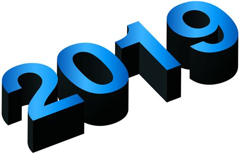 2019 Blue Black Png Clip Art Image