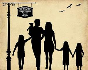 Custom family silhouette by Bernolli | Crafts | Pinterest ...