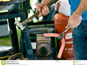 Shaping The Red Hot Metal Stock Image - Image: 20591051