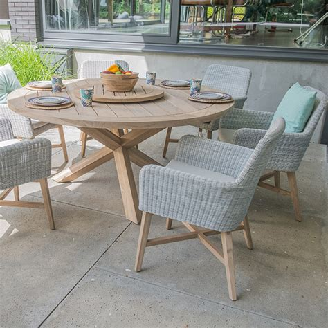 lisboa teak table rattan chair set   seasons outdoor