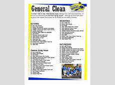Template House Cleaning Checklist