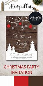 25 Unique Christmas Party Invitation Template Ideas On