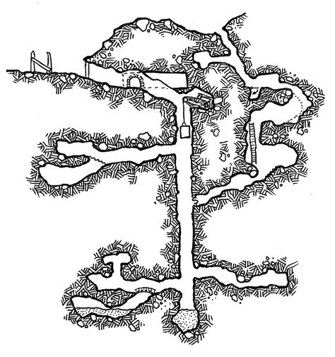 Dungeons and Dragons Mine Map