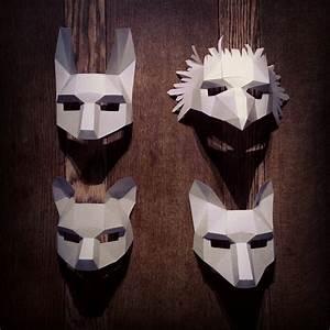 woodland animal mask set With woodland animal masks template