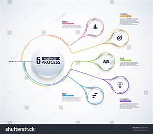 Business Data Visualization Process Chart Abstract Stock