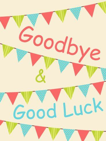 Farewell And Good Luck Clipart Collection