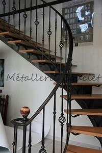 Escalier Fer Et Bois : les 25 meilleures id es de la cat gorie rampe escalier fer ~ Dailycaller-alerts.com Idées de Décoration