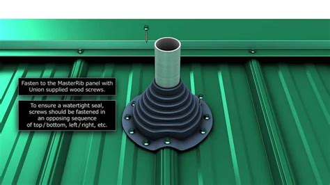 install  metal roof pipe boot youtube