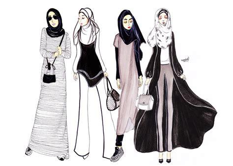 illustration girls day   namirah abdullah sketsa