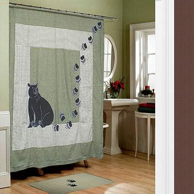 bear country shower curtain rustic lodge style