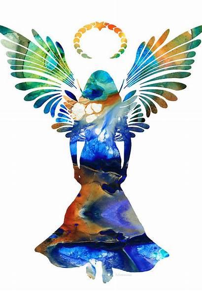 Angel Spiritual Healing Painting Cummings Sharon Guardian