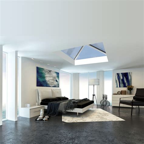 bedroom with glass roof roof lanterns by all glass cornwall fill your home with light