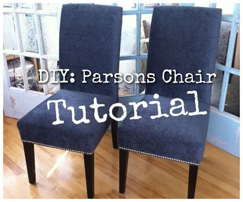 DIY: Re Upholster Your Parsons Dining Chairs (Tips From A