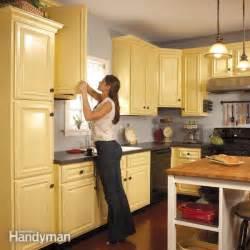spray paint kitchen cabinets  family handyman