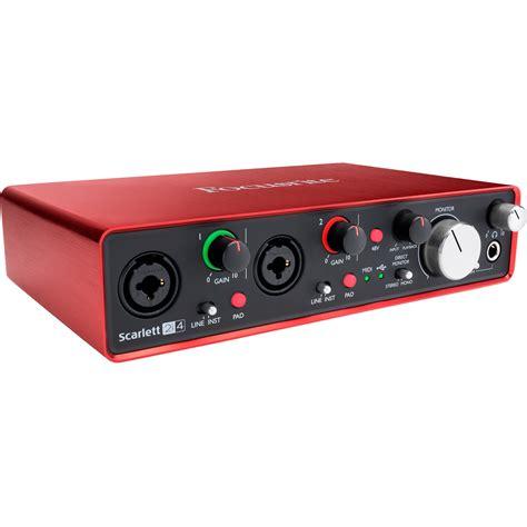 focusrite 2i4 usb audio interface 2i4 b h