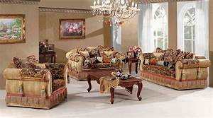Luxury traditional living room furniture classy living for Exotic living room furniture
