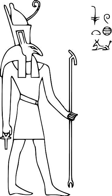 seth egyptian hieroglyph  vector graphic  pixabay