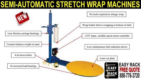 semi automatic stretch wrap shrink wrap machines material handling equipment company