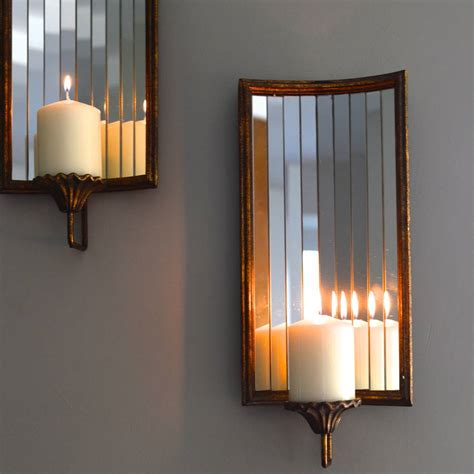 venetian wall candle holder   forest