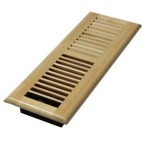 home depot floor registers decor grates 4 in x 14 in wood natural bamboo louvered design floor register wlba414 n the