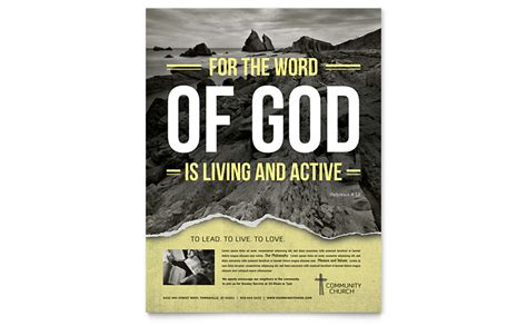 bible church flyer template word publisher