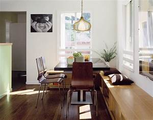 Built in kitchen bench seating dining room modern with