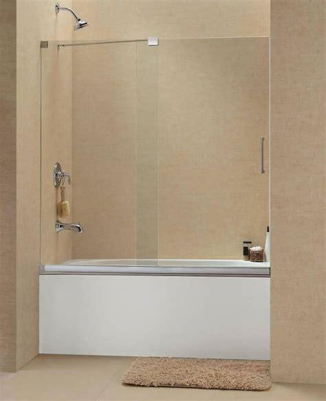 bathtub sliding doors dreamline 60 quot x 58 quot mirage brushed 3 8 quot shdr 1960582