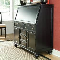Armoire Secretaire Riskoff by Camden Drop Lid Secretary Desk Black At Hayneedle