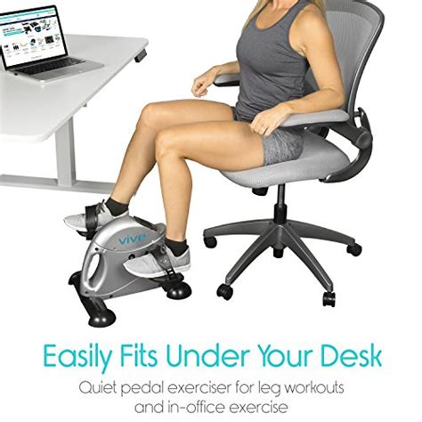 under desk bike peddler pedal exerciser by vive portable medical exercise