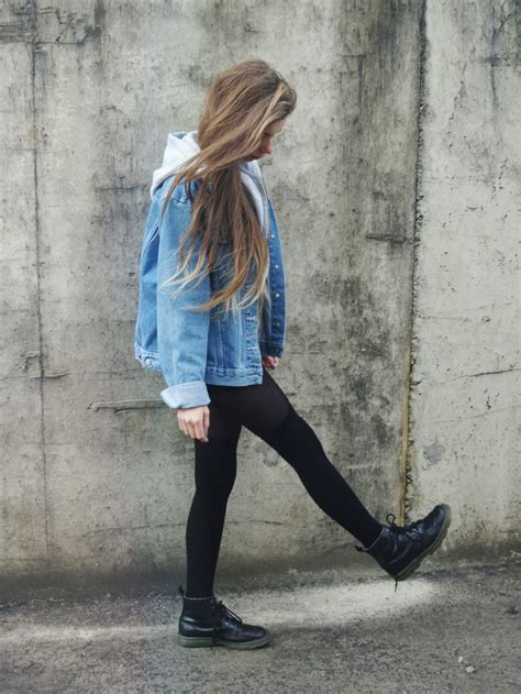 Jean jackets and leggings | outfits | Pinterest