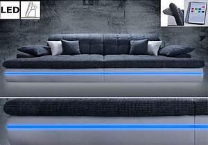 Sofa Mit Led Und Sound : big sofa almond couch in wei und grau mit rgb led beleuchtung neu ~ Orissabook.com Haus und Dekorationen