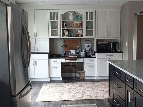 shaker cabinets  jersey home office remodel